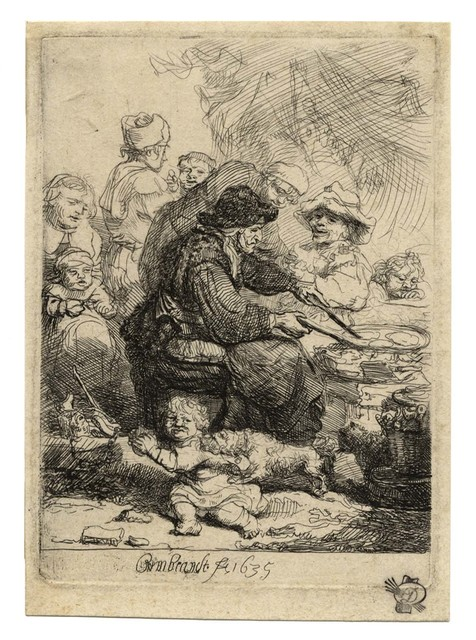 , 'The Pancake Woman,' 1635, C. G. Boerner
