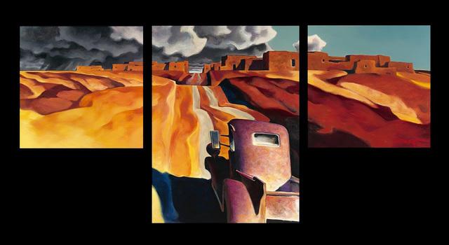 , 'Storm Triptych,' 2017, Blue Rain Gallery