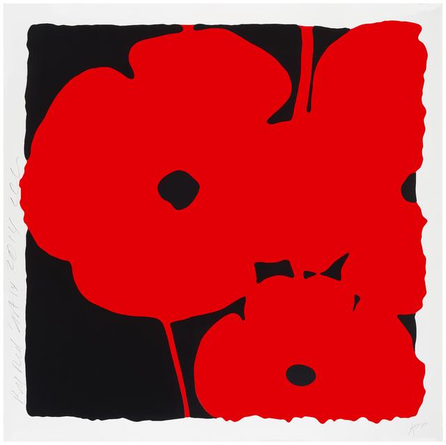 Donald Sultan, 'Big Poppies, Sept 14, 2014 (Red)', 2014, Meyerovich Gallery