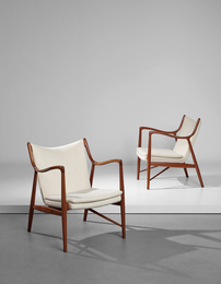 Pair of armchairs, model no. FJ 45