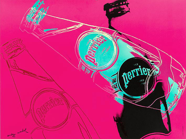 Andy Warhol, 'Perrier (Pink)', 1983, EHC Fine Art Gallery Auction