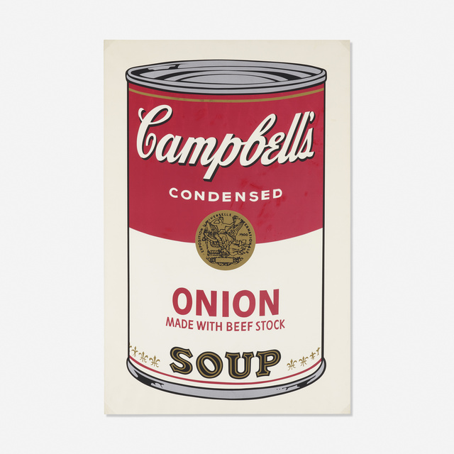 Andy Warhol, 'Onion Soup Can from Campbell's Soup I', 1968, Rago