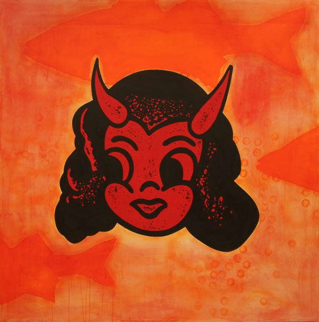 , 'Red on Orange, Orange on Red (Devil Girl),' 2012, JAYJAY