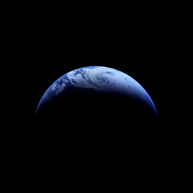 , '118 Crescent Earth; Photographed by Robotic Camera, Apollo 4 (Unmanned), November 9, 1967,' 1999, Danziger Gallery