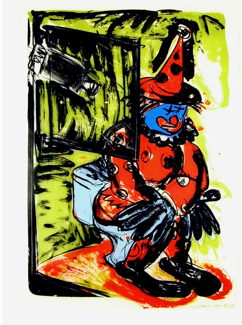 , 'Clown Taking a Shit,' 1988, Brooke Alexander, Inc.