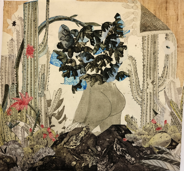 , 'In the Desert: Mooning with Blue Flowers,' 2016, Island Press