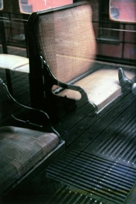 Saul Leiter, 'Foot on El', 1954, Photography, Chromogenic print, printed later, GALLERY FIFTY ONE