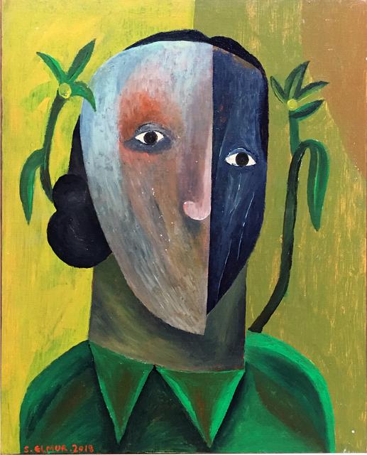 Salah Elmur, 'A half mask', 2018, Gallery MOMO