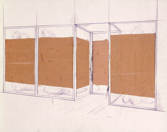 Christo, 'Store Front (preliminary study of project for Documenta IV, Kassel 1968)', 1966, Annely Juda Fine Art