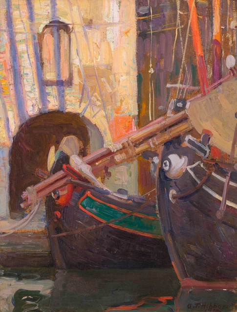 Aldro Thompson Hibbard, 'Italian Boats and Archway', 1914, Vose Galleries