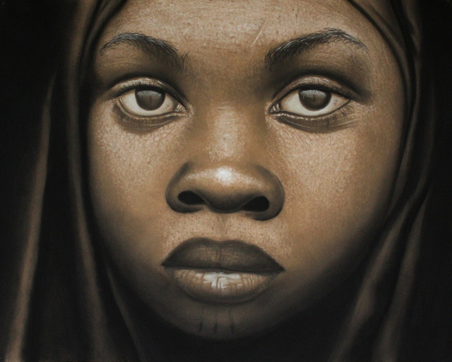 , 'Tribal Mark Series III #12,' 2016, TAFETA