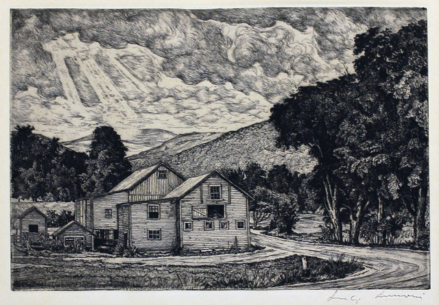 Luigi Lucioni, 'The Three Graces', 1950, Print, Etching, Kiechel Fine Art