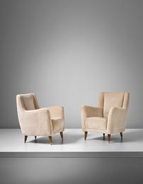 Gio Ponti, 'Pair of armchairs, model no. 533, designed for the ballroom of the Giulio Cesare transatlantic ocean liner,' ca. 1950, Phillips: 20th Century & Contemporary Art & Design Evening Sale