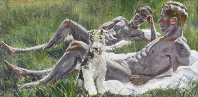 , 'Two Boys with a Dog,' date unknown, Carrie Haddad Gallery
