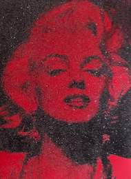 Marilyn - Reach out and Touch the Faith in Red and Black