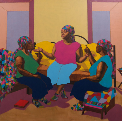 , 'A Conversation with the Three of Me,' 2015, Craig Krull Gallery