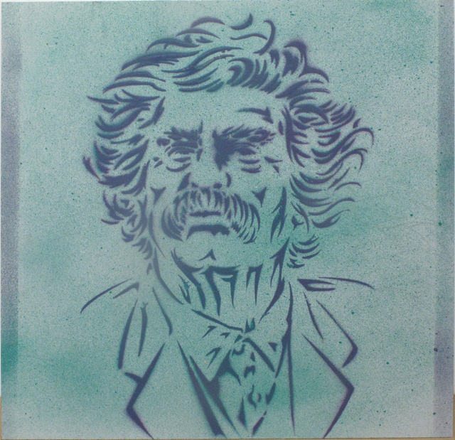 Val Kilmer, 'Mark Twain', 2017, Painting, Spray enamel and stencil on metal, Woodward Gallery