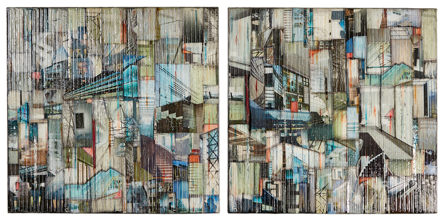 Madonna Phillips, 'Water Falling Diptych', 2018, Ai Bo Gallery