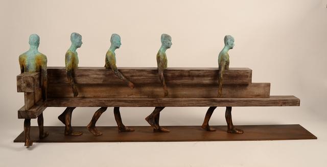 Jesús Curiá, 'Camino L', 2019, Sculpture, Bronze and wood, Anquins Galeria
