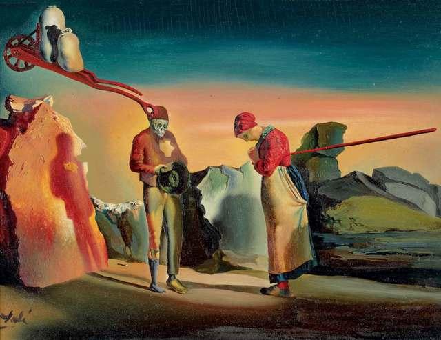 """, 'Les atavismes du crépuscule (Phénomène obsessif). D'après """"L'Angélus"""" de Millet,' ca. 1933, Kunstmuseum Bern"""