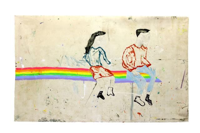 Richard Mason, 'KIDS', 2019, Painting, Acrylic, pencil and crayon on canvas, 99 Loop Gallery