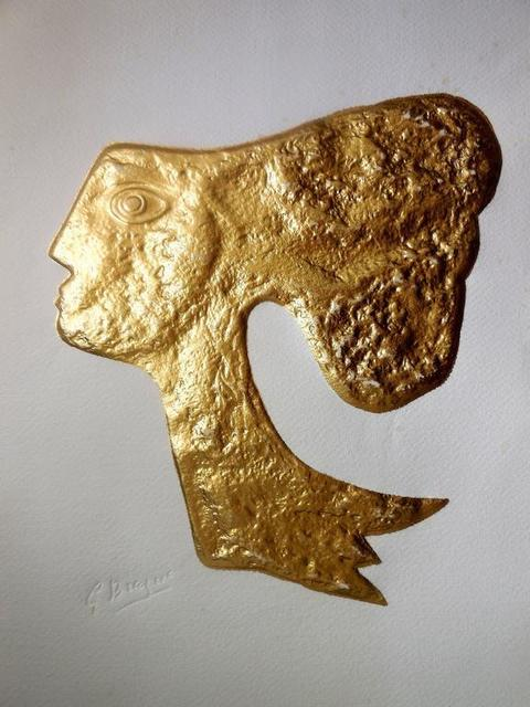 "Georges Braque, 'Rare ""Atalante"" Gold Embossed Etching', 20th Century, Lions Gallery"