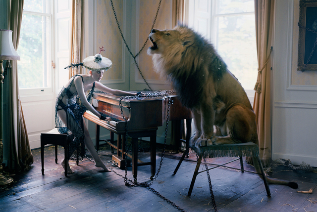 , 'Karen Elson at piano with singing Lion, Shotover House, Oxfordshire ,' 2013, Michael Hoppen Gallery