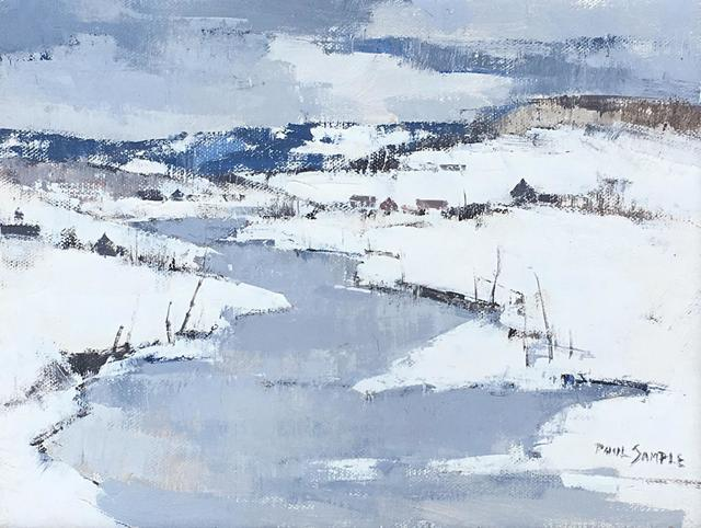 Paul Sample, 'River Valley', ca. 1960, Painting, Acrylic on canvas, Caldwell Gallery Hudson