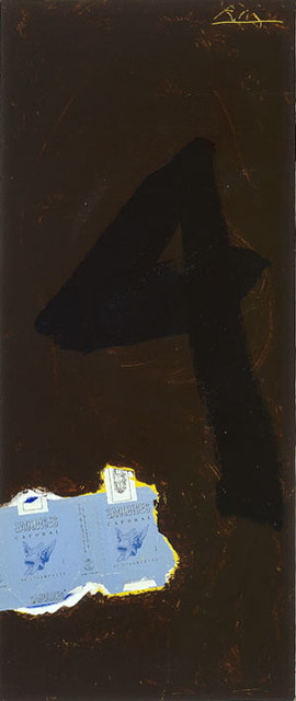 , 'Untitled (In Brown with Gauloises and the Figure 4),' 1972, Bernard Jacobson Gallery