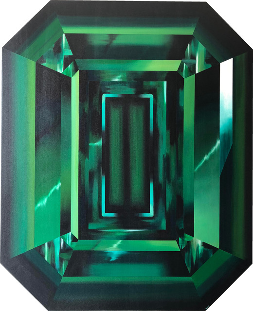 , 'Green Emerald Cut Diamond,' 2018, Incontemporary