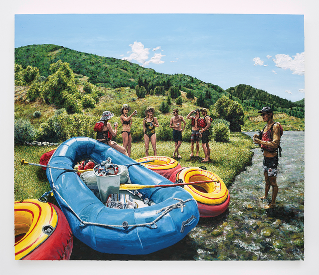 , 'Beers on the river,' 2017, Depart Foundation