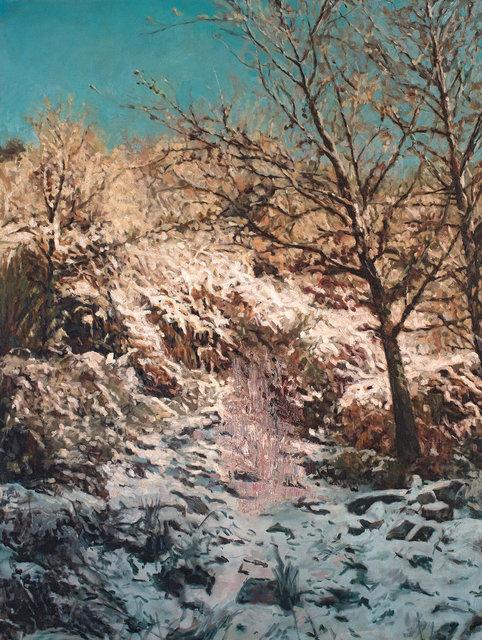Ian Grose, 'Boris on a Snowy Path Without Boris', 2010, Painting, Oil on canvas, Strauss & Co
