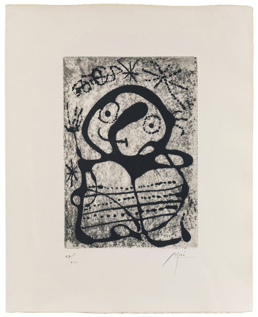 Joan Miró, 'Constellations (Black State) (from the Constellations suite)', 1959, John Moran Auctioneers