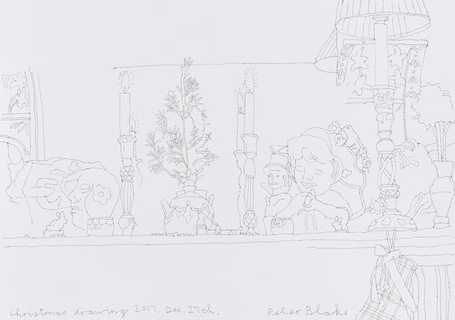 , 'Christmas drawing 2017, Dec 27th.,' 2017, Waddington Custot