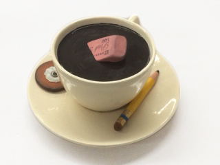 , 'cup with eraser and pencil,' 2017, Lois Lambert Gallery