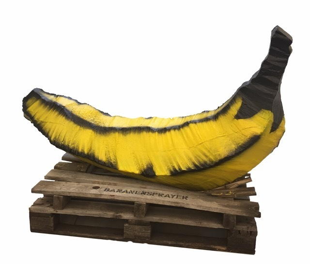 Bananensprayer Thomas Baumgärtel, 'Betonbanane', 2000-2007, Galerie Kronsbein