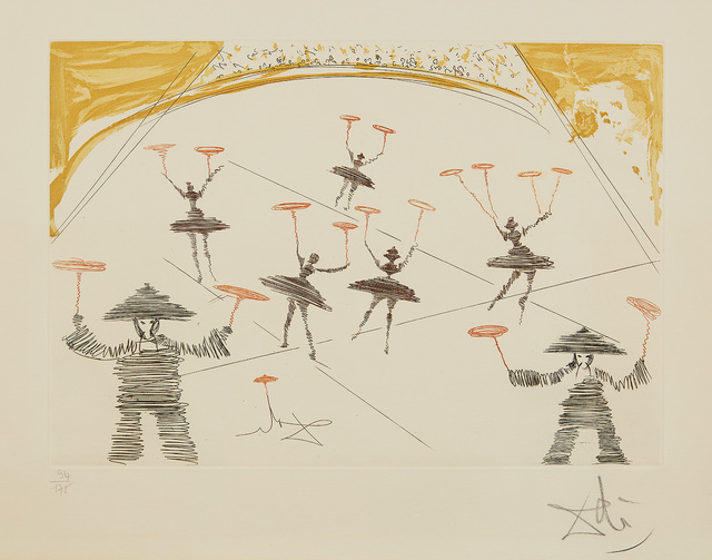 Salvador Dalí, 'Chinois, from Le Cirque (Chinese, from The Circus)', 1965, Print, Etching and aquatint in colors, on Arches paper, with full margins., Phillips