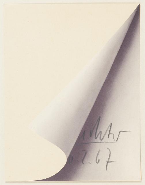 Gerhard Richter, 'Blattecke (Sheet Corner)', 1967, Rago