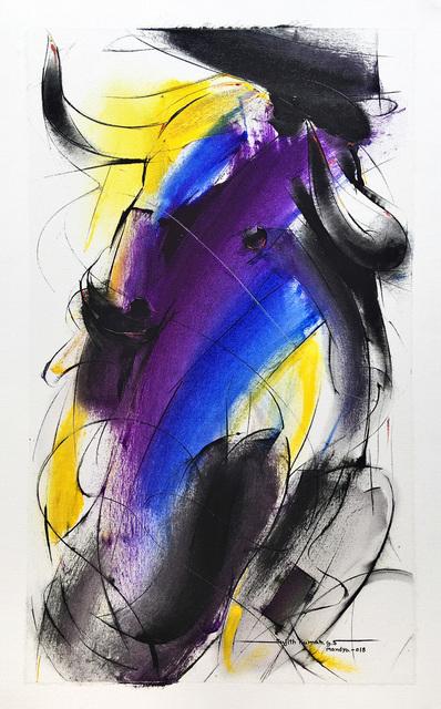 Sujth Kumar G.S. Mandya, 'Bull Painting - 687', 2018, MayinArt