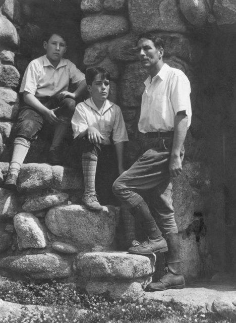 Edward Weston, 'Robinson Jeffers and Twin Sons, Garth & Donnan at Tor House, Carmel', 1930-printed later than 1932, Scott Nichols Gallery