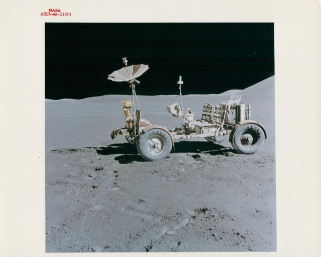 , 'The Lunar Rover at its final parking place, EVA 3, Apollo 15, August 1971,' , Attollo Art