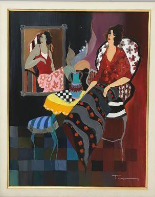 Itzchak Tarkay, 'Silhouette #3', 2005, Baterbys Art Gallery