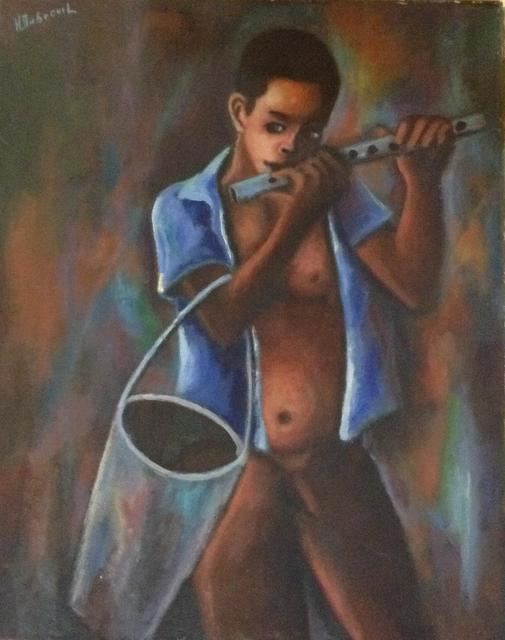 , 'The Naked Flute Player,' 1980, Myriam Nader Haitian Art Gallery