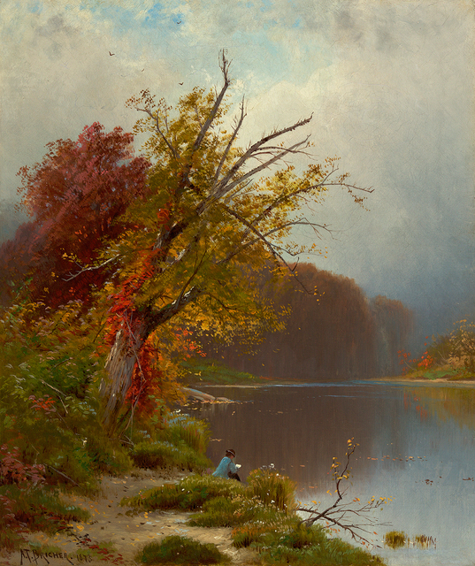 , 'At the Lake,' 1873, Questroyal Fine Art