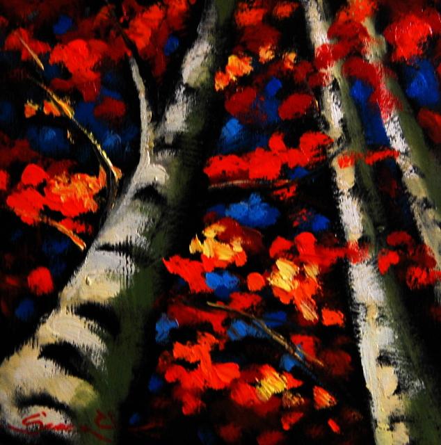 , 'Birch Trees III,' , Baterbys Art Gallery