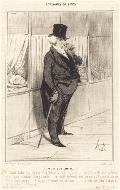 Honoré Daumier, 'Le Préfet de l'Empire', 1841, National Gallery of Art, Washington, D.C.