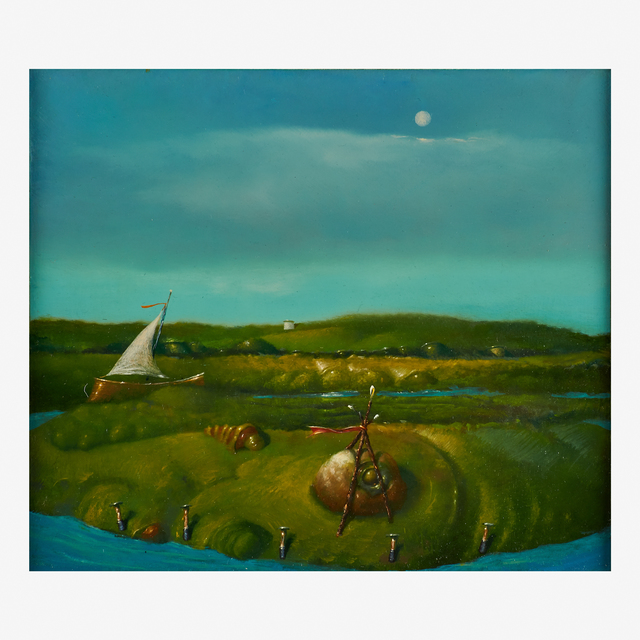 Robert Rasely, 'I Have Marked Where We Shall Meet', 1995, Painting, Oil on Masonite (framed), Rago/Wright