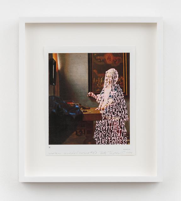 , 'Women Words (Vermeer #5),' 2018, P.P.O.W
