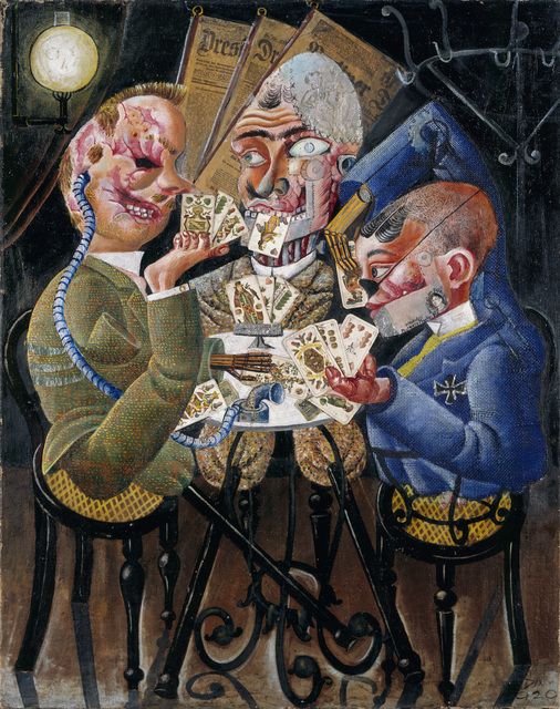 Otto Dix, 'The Skat Players - Card Playing War Invalids', 1920, ARS/Art Resource