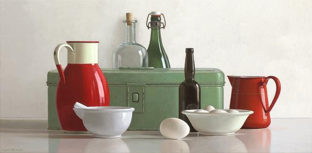 Willem de Bont, 'Composition in red and green', 2019, Smelik & Stokking Galleries